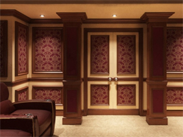 Remodeled room for a home theater.