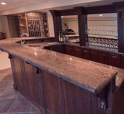 Custom home bars in nj hawthorne home bar for Unique home bars
