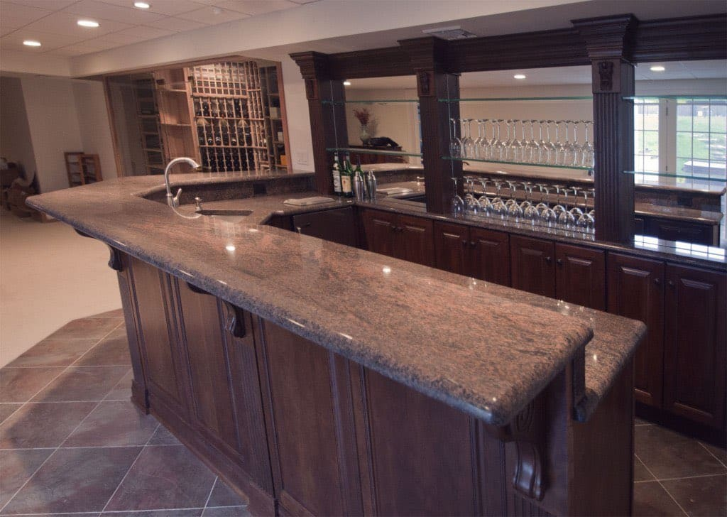 Custom nj home bar trade mark design build for Home lounge design