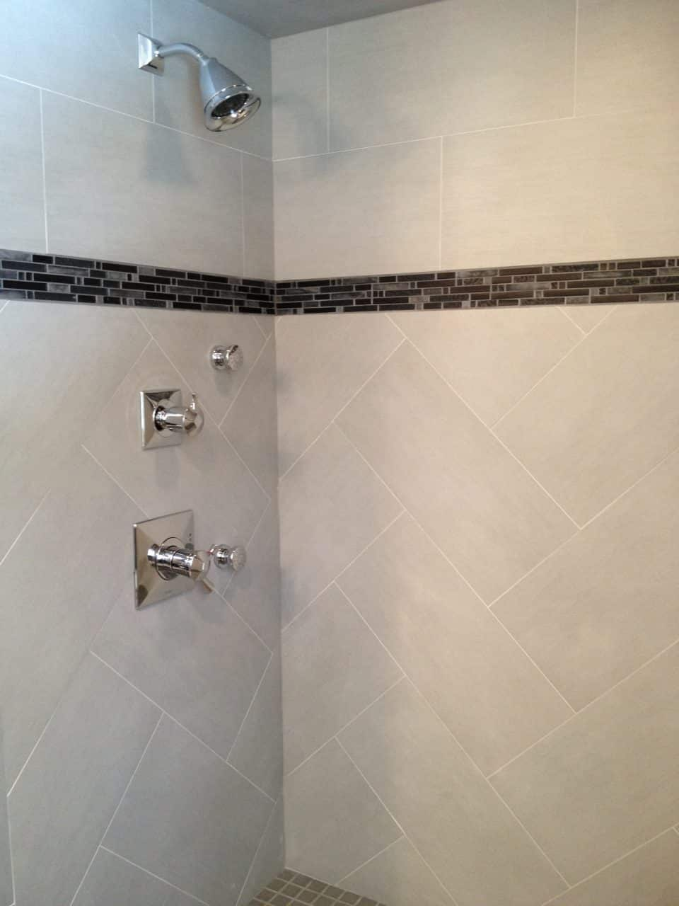Herringbone Bathroom