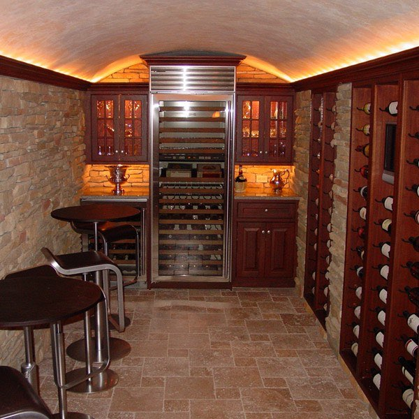 Building a home wine cellar pictures to pin on pinterest for Building wine cellar