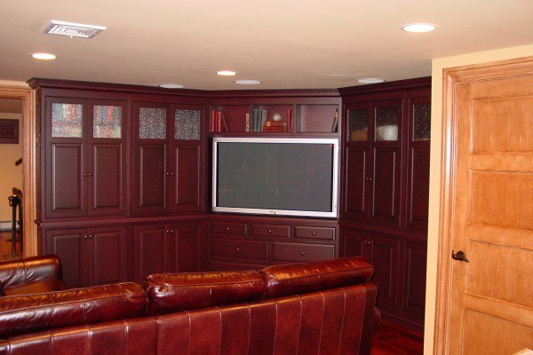 NJ Custom Cabinets Media Room