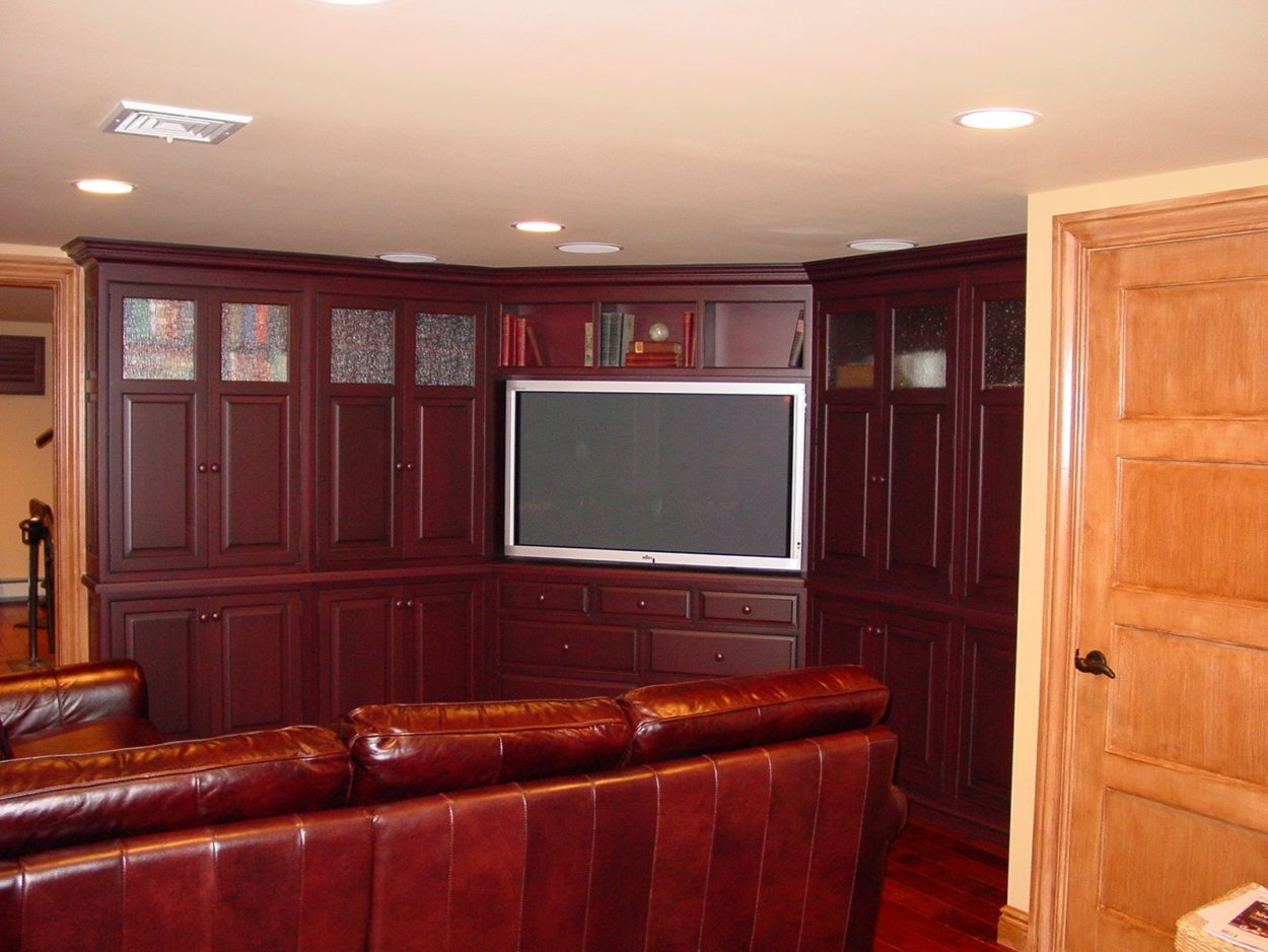 NJ Custom Cabinets Media Room