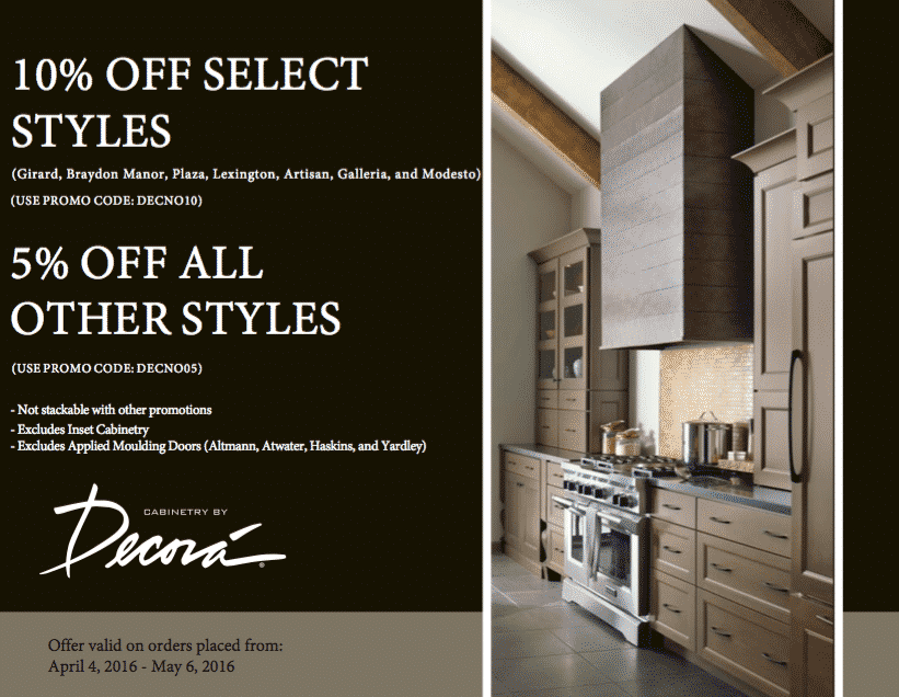 Cabinetry by Decora Savings Event