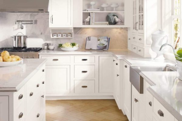White Custom Kitchen Cabinets in New Jersey