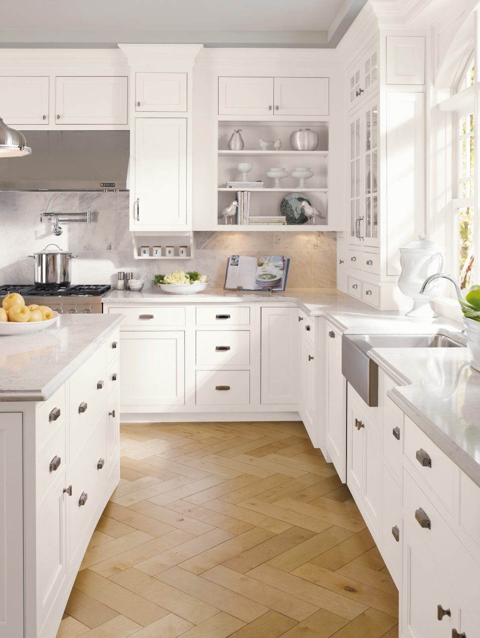trademarkinteriors nj kitchen cabinets White Custom Kitchen Cabinets in New Jersey