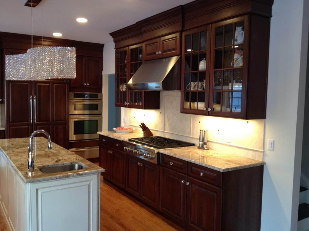 Traditional Cherry Kitchen Remodel in New Jersey