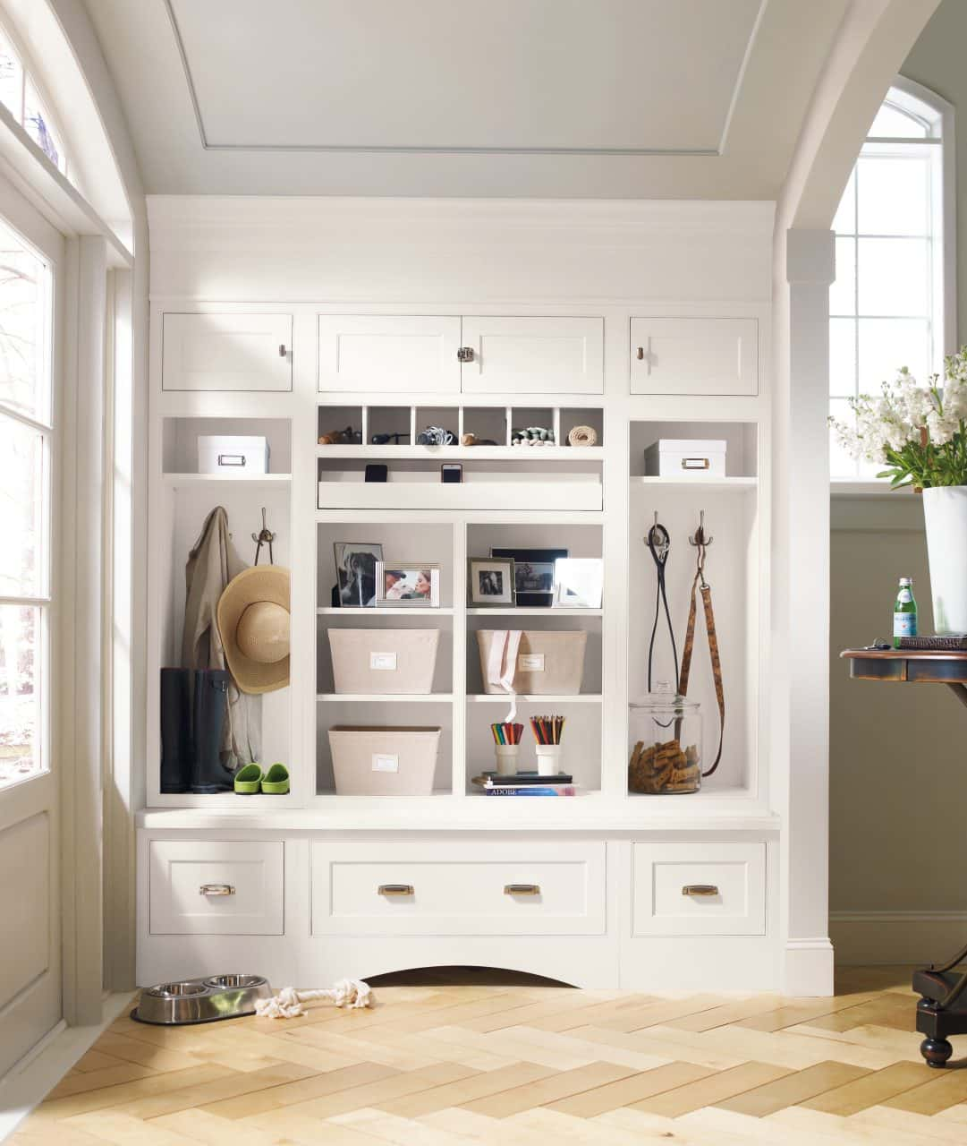 Transitional Mudroom in NJ