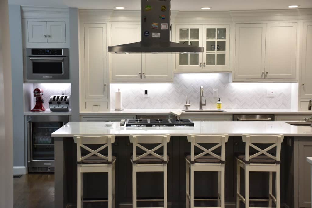 white kitchen cabinets in Ridgewood NJ