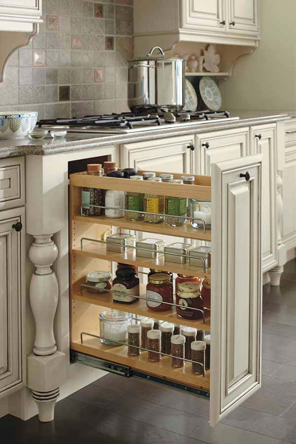 base cabinet with pantry pullout