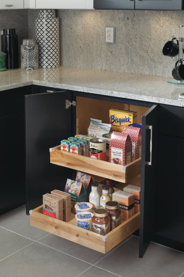 base cabinet with rollouts