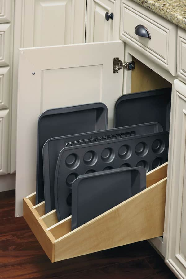 base cabinet with tray divider