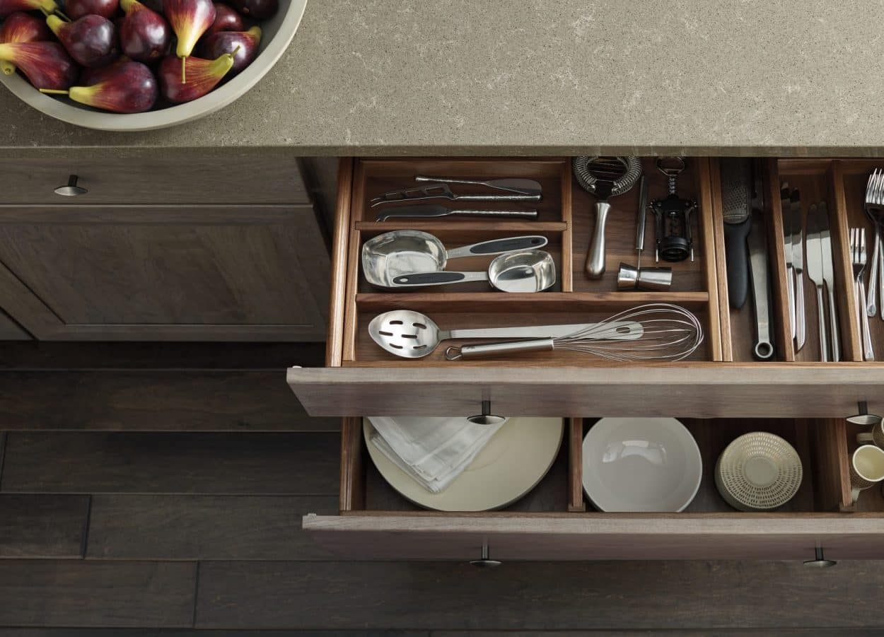 kitchen cabinet drawer organizers