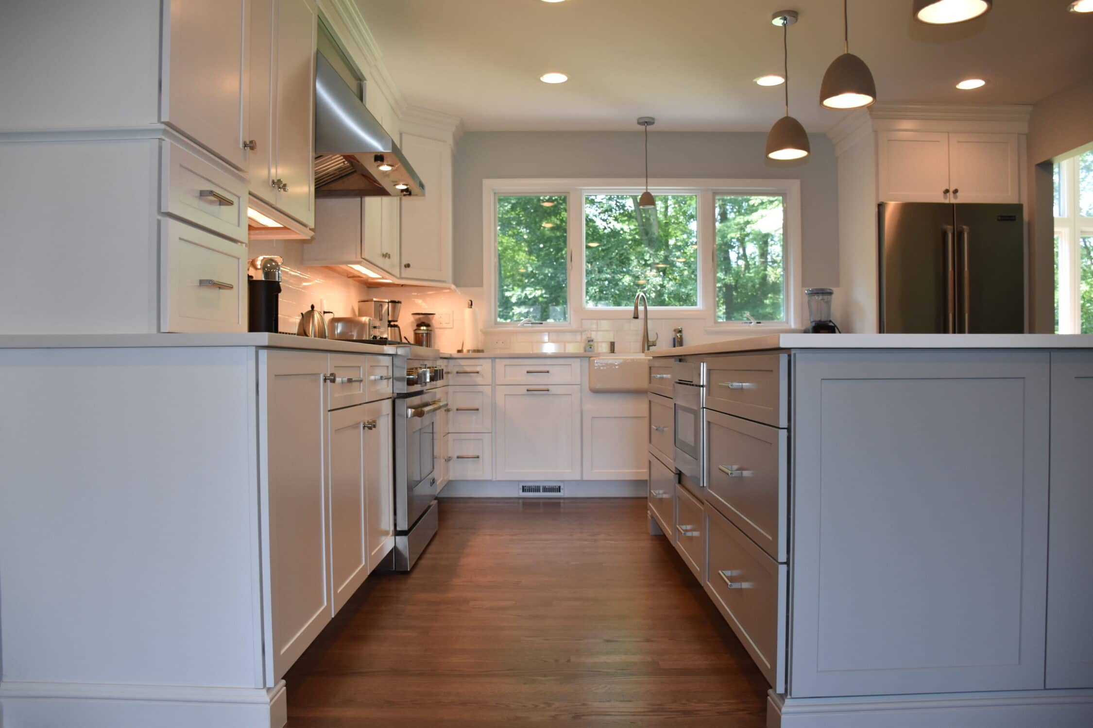 Home By Rearranging The Existing Kitchen And Dining Room Layout Result Was A Completely New E That Flowed Better With Rest Of House